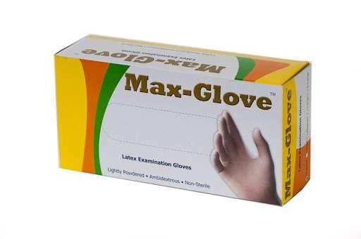 כפפות לטקס חד פעמיות Max-Glove